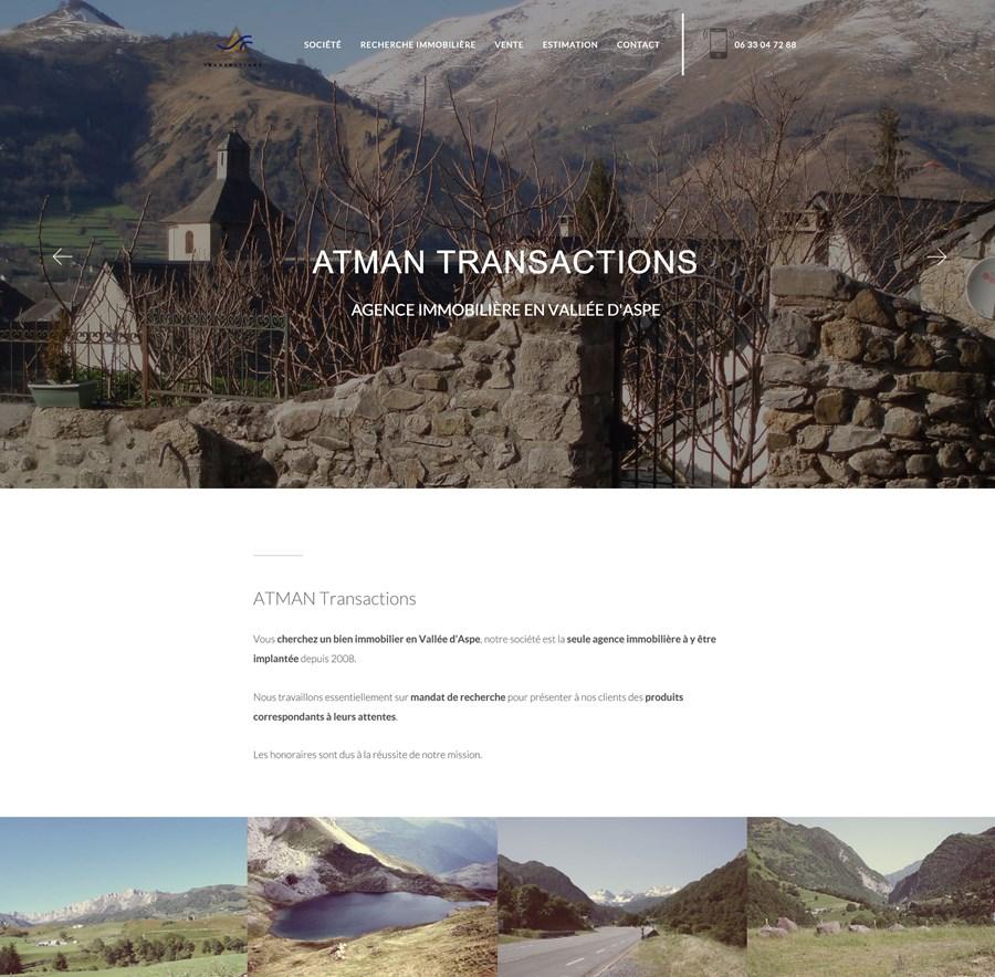 Site vitrine d'ATMAN Transactions