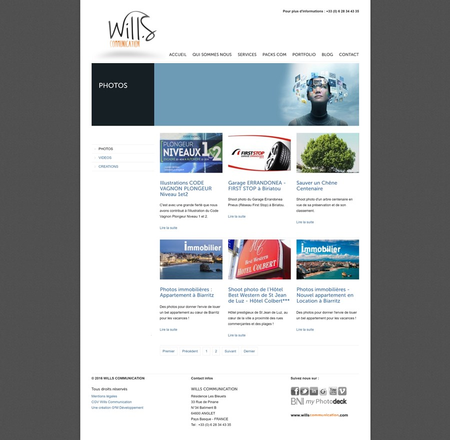 Migration du site insitutionnel de Wills Communication