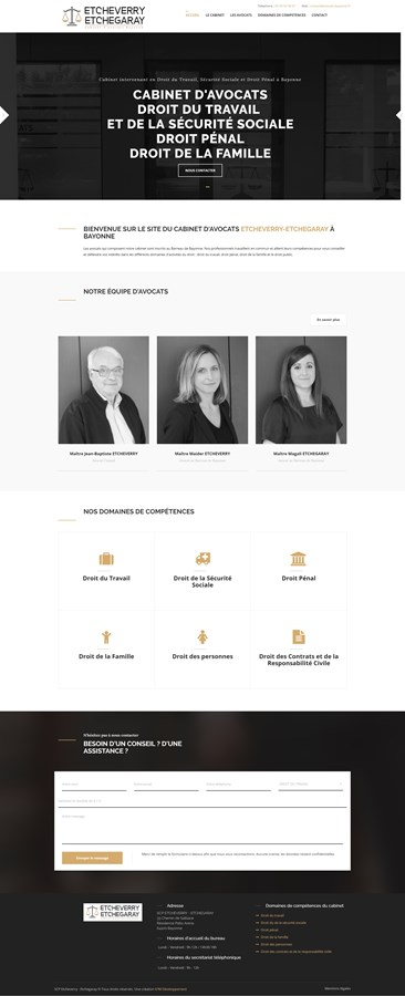 Site institutionnel du cabinet d'avocats ETCHEVERRY-ETCHEGARAY