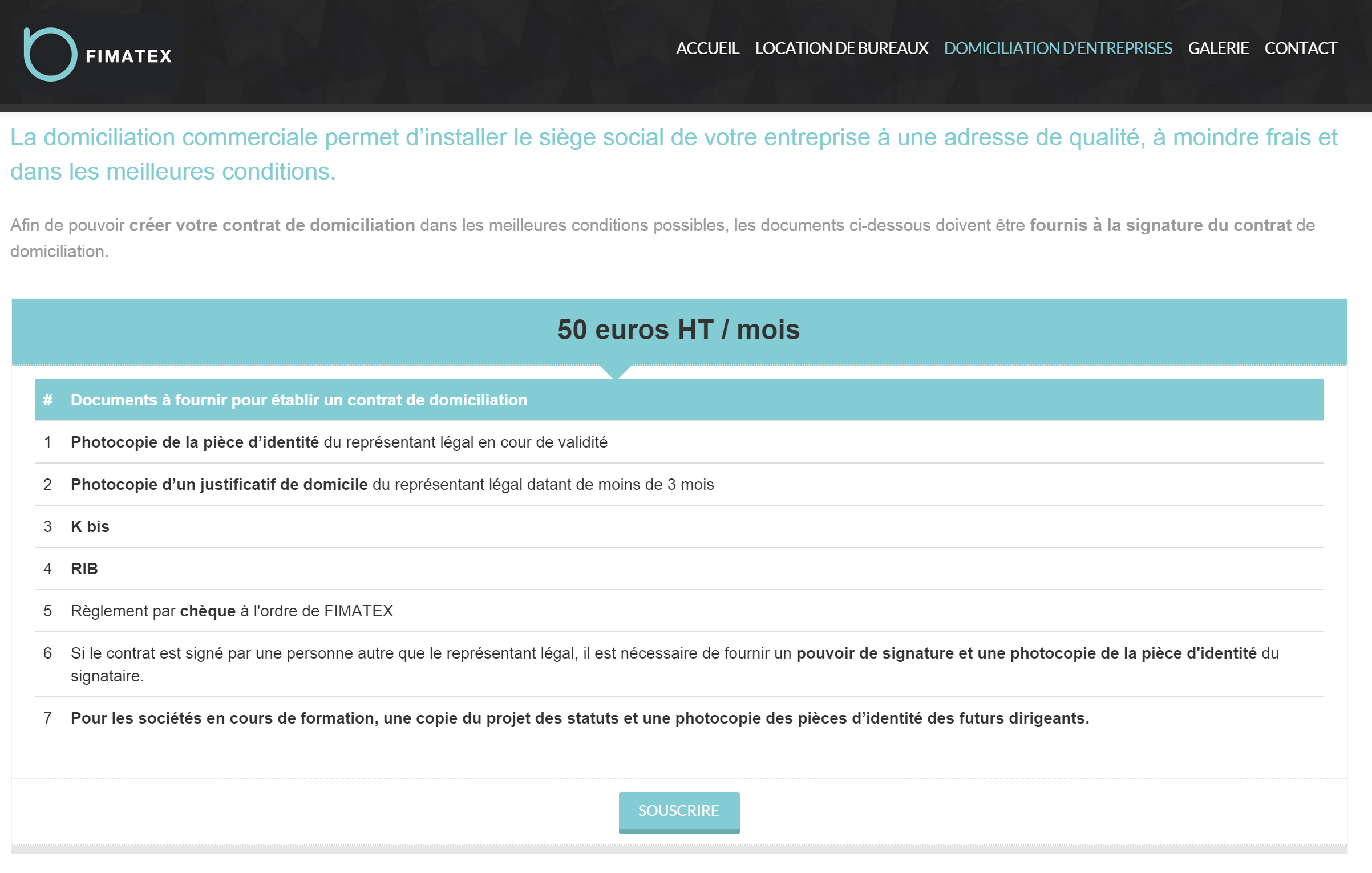 Site institutionnel FIMATEX