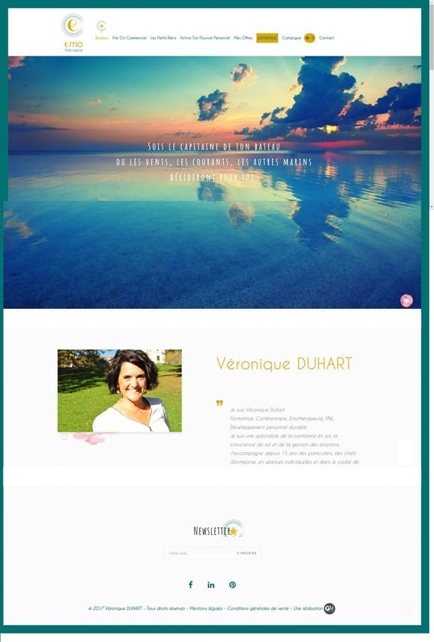 Site vitrine de l'émothérapeute Véronique DUHART