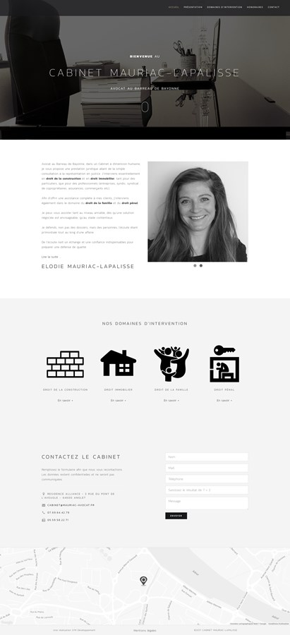 Site institutionnel du cabinet d'avocats MAURIAC-LAPALISSE à Bayonne