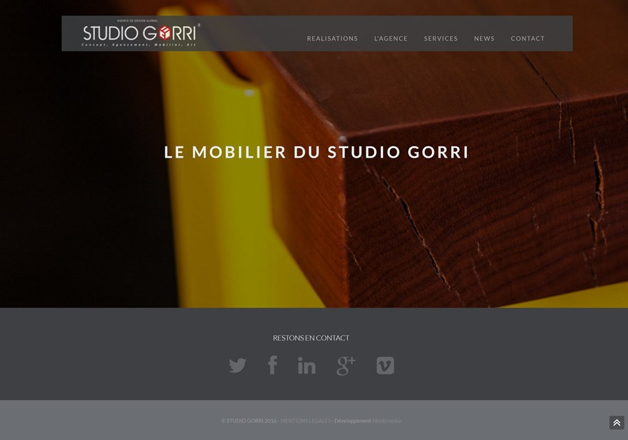 Site institutionnel du Studio GORRI