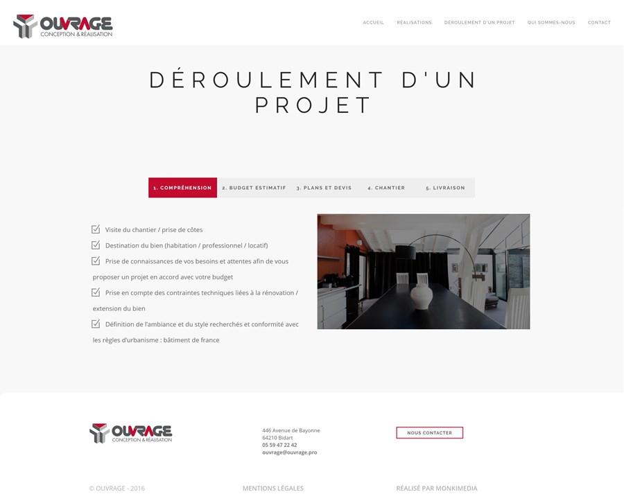 Site institutionnel de la société Ouvrage Conception & Réalisation
