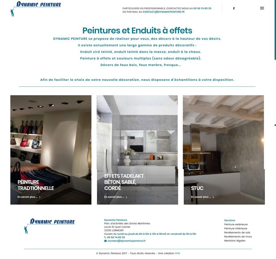 Refonte du site vitrine de Dynamic Peinture