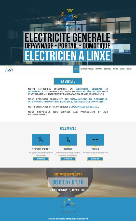 Site vitrine de la société d'électricité Visuaelec