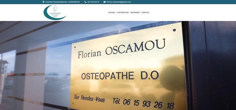 Site vitrine ostéopathe biarritz florian oscamou